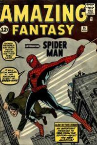 Amazing Fantasy 15 (Aug. 1962), cover drawn by Jack Kirby