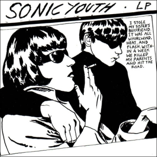 Raymond Pettibon's cover to Sonic Youth's album Goo (1990)