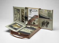 Box in a Valise (Boîte-en-Valise) from or by Marcel Duchamp or Rrose Sélavy, c. 1943 (from philamuseum.org)